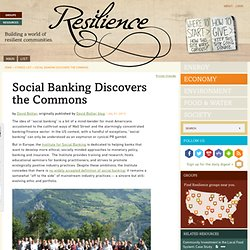 Social Banking Discovers the Commons