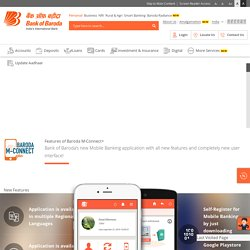 Baroda M-Connect plus (Mobile Banking) App at Bank of Baroda
