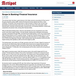 Scope in Banking/ Finance/ Insurance