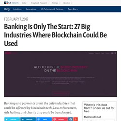 Banking Is Only The Start: 11 Big Industries Blockchain Tech Could Disrupt