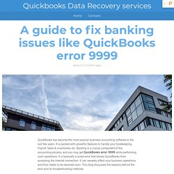 Basics Methods to Solve QuickBooks Online Bank Error 9999