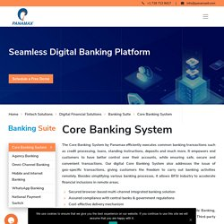 Core Banking Solutions, Digital Core Banking System