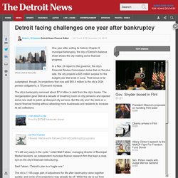 One year after bankruptcy, Detroit's pension debts still loom