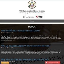 Bankruptcy Papers, Court Law, Discharge Records