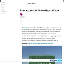 Bankruptcy Fraud: All You Need to Know