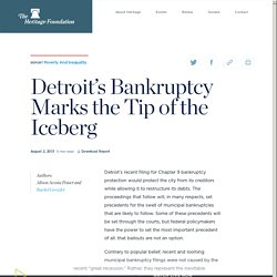 Detroit's Bankruptcy Marks the Tip of the Iceberg