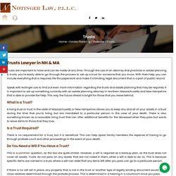 Trusts Lawyer in NH & MA