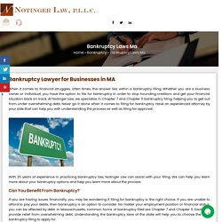 Bankruptcy Lawyer for Businesses in MA