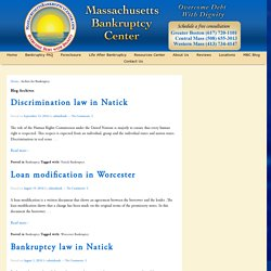 Bankruptcy Archives - Massachusetts Bankruptcy Lawyers