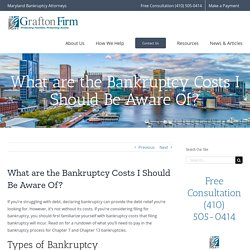 Bankruptcy Costs You Should Be Aware Of
