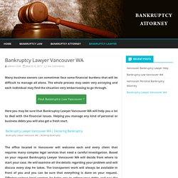 Bankruptcy Lawyer Vancouver WA