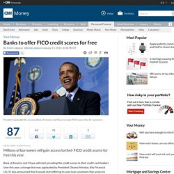 Banks to offer FICO credit scores for free - Jan. 13, 2015