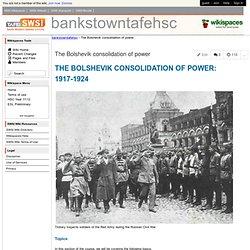 the bolshevik consolidation of power essay
