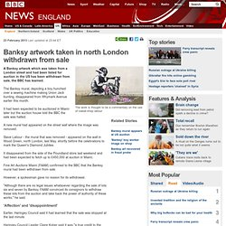 New artwork appears at site of taken London Banksy