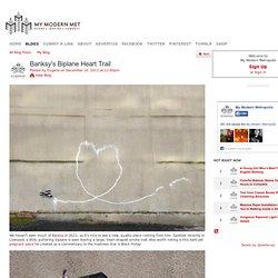 Banksy's Biplane Heart Trail