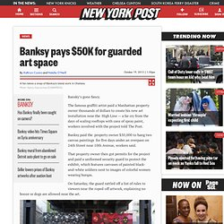 Banksy pays $50K for guarded art space