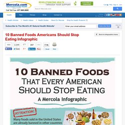 10 Banned Foods Americans Should Stop Eating – Infographic