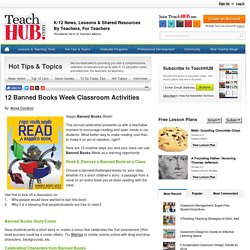 12 Banned Books Week Classroom Activities