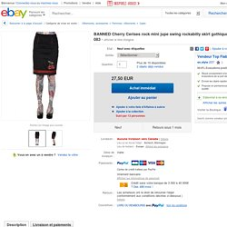 Banned Cherry Kirschen Rock Mini Pencil Swing Rockabilly Skirt Gothic 3152 083