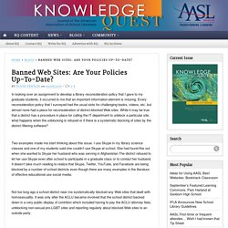 Banned Web Sites: Are Your Policies Up-To-Date?