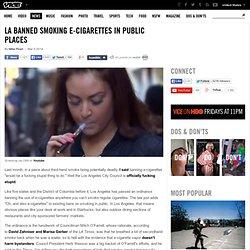 LA Banned Smoking E-Cigarettes in Public Places