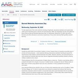 Banned Websites Awareness Day - AASL