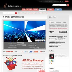 X-Treme Banner Rotator XML AS3 - Flash Components