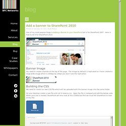 Add a banner to SharePoint 2010