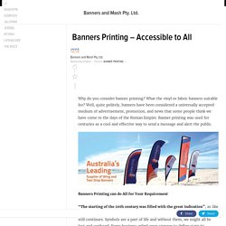 Banners Printing – Accessible to All