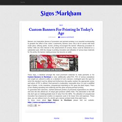 Custom Banners For Printing In Today's Age ~ Signs Markham