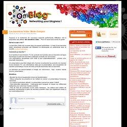 Les bannières Vidéo: Mode d'emploi | Effiblog