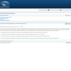 PARLEMENT EUROPEEN - Réponse à question E-009039-16 Banning horsemeat on animal welfare grounds
