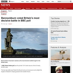 Bannockburn voted Britain's most decisive battle in BBC poll - BBC News