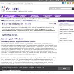 BRNE - Banque de ressources en Français