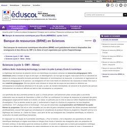BRNE - Banque de ressources (BRNE) en Sciences - Éduscol