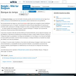 Banque du temps - Belgiki - Wiki for Belgium