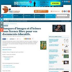 Banques d'images et d'icônes sous licence libre pour vos documents éducatifs.