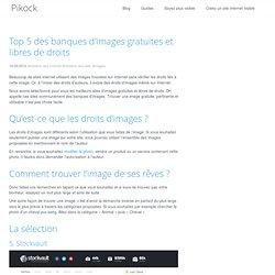 Top 5 des banques d'images gratuites et libres de droits - Pikock