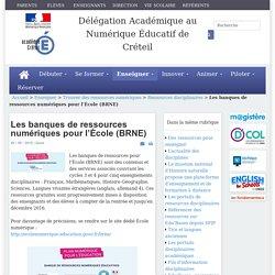 Les banques de ressources numériques pour l'École (BRNE)