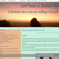 Bansky, les pigeons, par Frido Duchemann - Art'hist à Saint-Jo