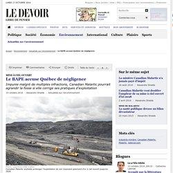 Le BAPE accuse Québec de négligence