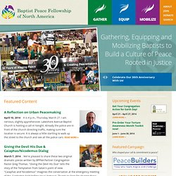 BPFNA | Baptist Peace Fellowship of North America