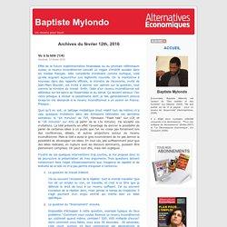 Baptiste Mylondo » 2016 » février » 12