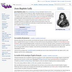 Jean-Baptiste Lully - Vikidia, l'encyclopédie des 8-13 ans