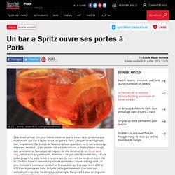Un bar a Spritz ouvre ses portes à Paris
