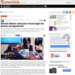 Barack Obama code pour encourager les jeunes à programmer