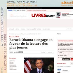 Barack Obama s'engage en faveur de la lecture des plus jeunes
