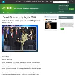 Barack Obamas invigningstal 2008