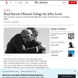 Barack Obama's Eulogy for John Lewis: Full Text