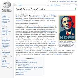 """Barack Obama """"Hope"""" poster"""
